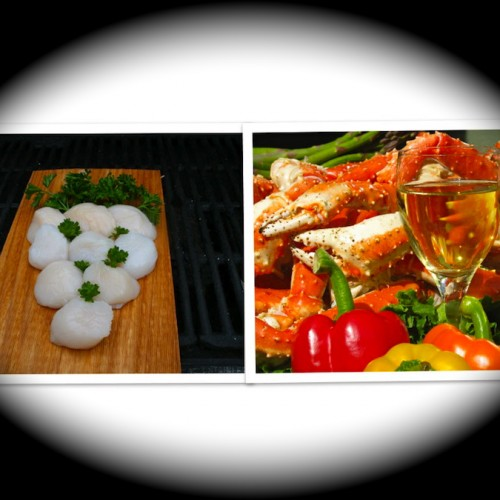 Colossal King Crab & Scallop gift pack