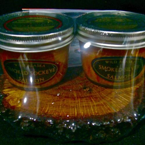 Alaska Smoked Salmon Wood Block Gift